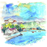 Nova Drawings - The Sea in Villa Nova de Milantes in Portugal by Miki De Goodaboom