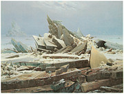 Caspar Posters - The Sea of Ice Poster by Caspar David Friedrich