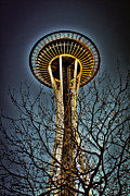 Seattle Center Prints - The Seattle Space Needle IV Print by David Patterson