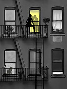 Nyc Fire Escapes Framed Prints - The Second Floor Framed Print by Nina Bradica