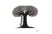 Fantasy Tree Art Drawings - The Secret by Atalina Marie Homan