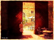 Mansion Digital Art Originals - The Secret Courtyard  by Becky Lupe