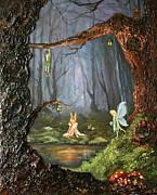 Tinkerbell Framed Prints - The Secret Forest Framed Print by Jean Walker