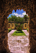 Biscayne Bay Posters - The Secret Garden Vizcaya Museum and Gardens Biscayne Bay Miami Florida Poster by Amy Cicconi