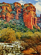 Oak Creek Digital Art Framed Prints - The Secret Mountain Wilderness in Sedona Back Country Framed Print by Nadine and Bob Johnston