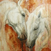 Two Horses Posters - The Secret Poster by Silvana Gabudean