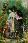 Couple In Love Paintings - The Secret by William Henry Fisk