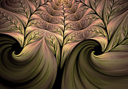 Youthful Digital Art Metal Prints - The Secret World Of Plants Abstract Metal Print by Zeana Romanovna