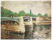 Jatte Paintings - The Seine with the Pont de la Grand Jatte by Vincent Van Gogh