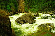 Running Photo Acrylic Prints - The Selway River Acrylic Print by Jeff  Swan