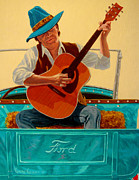 Ford Truck Drawings - The Serande by Chris MacClure