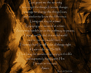 The Serenity Prayer Print by Andrea Anderegg