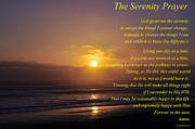 The Serenity Prayer Posters - The Serenity Prayer Poster by  Terrie Heslop