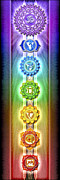 Sahasrara Framed Prints - The Seven Chakras Series 2010 Framed Print by Dirk Czarnota