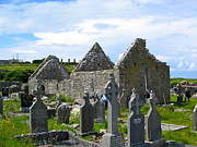 Inishmore Prints - The Seven Churches Print by Denise Mazzocco
