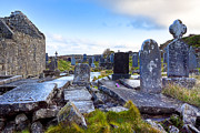 Inishmore Prints - The Seven Churches Ruins on Inis Mor Print by Mark E Tisdale