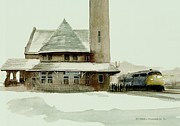 Winter Landscape Paintings - The Seven Fifteen by Michael Swanson