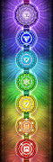 Aum Posters - The Seven Main Chakras I Series 2011 Poster by Dirk Czarnota