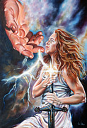 Prophetic Paintings - The Seven Spirits Series - The Spirit of Might by Ilse Kleyn