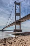 Grade 1 Posters - The Severn Bridge Poster by David Tinsley
