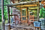 Cabin Window Digital Art Prints - The Shack Out Back Print by Dan Stone