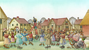 Dance Drawings Framed Prints - The Shaky Knight 01 Framed Print by Kestutis Kasparavicius