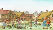 Lanscape Framed Prints - The Shaky Knight 02 Framed Print by Kestutis Kasparavicius