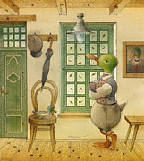 Duck Drawings - The Shaky Knight 03 by Kestutis Kasparavicius