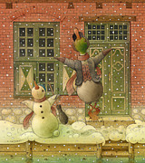 Christmas Drawings Originals - The Shaky Knight 04 by Kestutis Kasparavicius