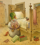 Brown Drawings Framed Prints - The Shaky Knight 05 Framed Print by Kestutis Kasparavicius