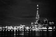 White River Scene Framed Prints - The Shard and London Skyline Framed Print by Ian Hufton