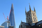 Catherdral Prints - The Shard and Southwark Catherdral Print by Ash Sharesomephotos