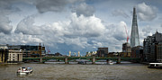 Shard Prints - The Shard and Thames view Print by Gary Eason