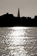 Sparkling Framed Prints - The Shard from Canary Wharf Framed Print by Jasna Buncic