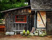 Shed Digital Art Metal Prints - The Shed at Monches Farm Metal Print by Mary Machare