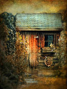 Spooky Digital Art - The Shed by Jessica Jenney