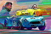 Action Sports Paintings - The Shelby Legacy by  David Lloyd Glover