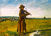 Henryk Gorecki Prints - The Shepherd Print by Henryk Gorecki