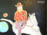 Orthodox Painting Originals - The Sheriff is Coming 2 by Richard W Linford