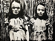 Horror Movies Painting Framed Prints - The Shining Girls Framed Print by Michael Kulick