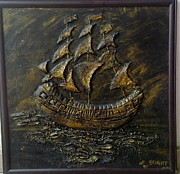 Earth Sculpture Prints - The Ship Print by Bright Nwankwo