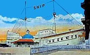 Historic Ship Painting Framed Prints - The Ship Cafe In Venice Ca In 1910 Framed Print by Dwight Goss