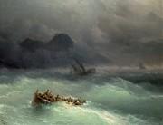 The Shipwreck Print by Ivan Konstantinovich Aivazovsky