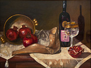 Fruit And Wine Paintings - The Shofar by Misima Schwarz