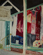 Impressionistic Market Painting Prints - The Shop in New Paltz Print by Aleezah Selinger