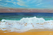 Bahamas Landscape Paintings - The Shores of Love Beach by Maritza Tynes