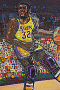 Magic Johnson Paintings - The Show by Mike Harder