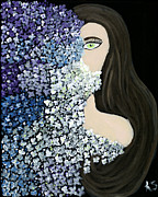 Fantasy Painting Originals - The Shy One  by Katy  Scott