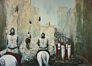 Templar Paintings - The Siege of Ascalon by Kaye Miller-Dewing