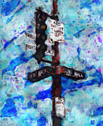 Traffic Control Digital Art Prints - The Signal Print by Jack Zulli